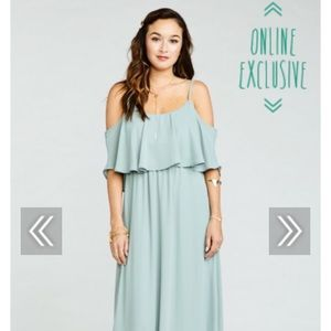 Showmeyourmumu Caitlin Ruffle Maxi Dress